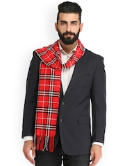 Alvaro Castagnino Red Checked Muffler