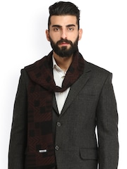 Alvaro Castagnino Coffee Brown & Black Checked Muffler