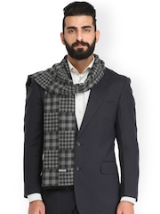 Alvaro Castagnino Grey Checked Muffler