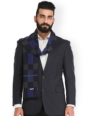 Alvaro Castagnino Blue & Grey Checked Muffler