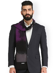 Alvaro Castagnino Purple & Grey Patterned Muffler