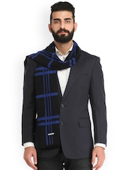 Alvaro Castagnino Black & Blue Checked Muffler