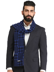 Alvaro Castagnino Blue & Black Checked Muffler