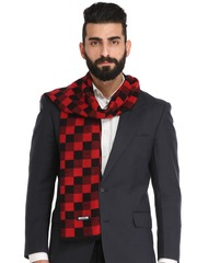 Alvaro Castagnino Red & Black Checked Muffler