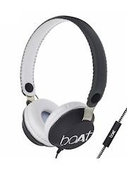 boAt Unisex Grey & Black Bassheads 500 On-Ear Headphones with Mic