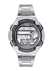 CASIO Youth-Series Men Silver-Toned Digital Multifunction Watch D137