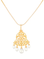ahilya Gold-Plated Sterling Silver Pendant with Pearls