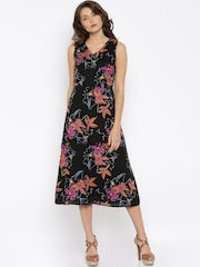 Vero Moda Women Black Printed Sheath Dress