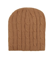 NOISE Women Brown Patterned Woollen Beanie