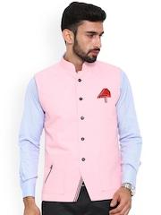 Shaftesbury London Pink Nehru Jacket