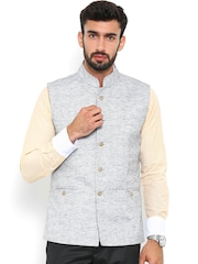 Shaftesbury London Grey Nehru Jacket