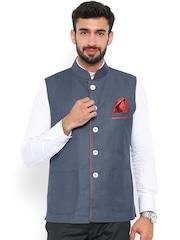 Shaftesbury London Grey Nehru Jacket