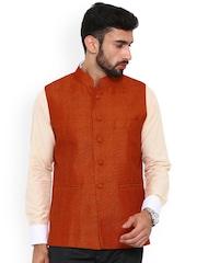 Shaftesbury London Orange Nehru Jacket