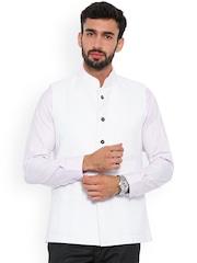 Shaftesbury London White Nehru Jacket