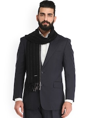 Alvaro Castagnino Black Striped Muffler