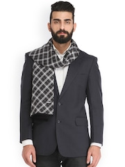 Alvaro Castagnino Black & Grey Checked Muffler