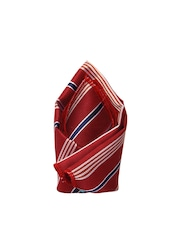 Tossido Maroon Patterned Pocket Square