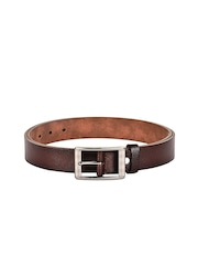 BuckleUp Men Brown Leather Belt