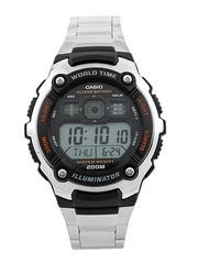 Casio Men Silver Toned Digital Watch D084-silver-209989