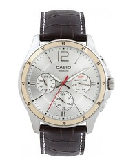 CASIO Men Silver-Toned Dial Watch A835