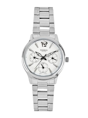 Casio Women Silver Toned Dial Watch
