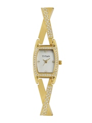 Titan Women Pearly White Dial Watch ND9851YM01J