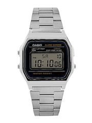 Casio Youth Series Men Steel-Toned Digital Watch D011