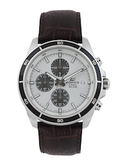 Casio Edifice Men Silver Toned Dial Watch EX097