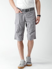 Celio Men Grey Cargo Shorts