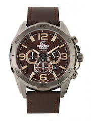 Casio Edifice Men Brown Dial Watch EX184