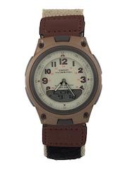 Casio Men Telememo Brown Dial Watch AD125