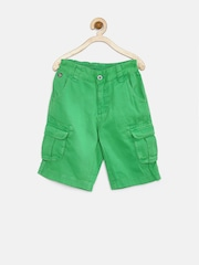U.S. Polo Assn. Kids Boys Green Cargo Shorts