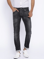 Jack & Jones Black Tim Slim Fit Jeans