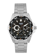 Casio Men Textured Charcoal Grey Dial Watch