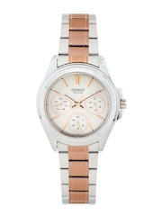 Casio Enticer Women Steel-Toned Dial Watch A936