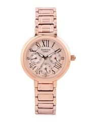 Casio Sheen Women Rose Gold-Toned Dial Watch SX124