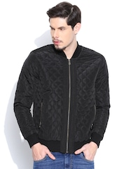 United Colors of Benetton Black Jacket with Quilted Detail