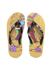 Freetoes Men Black Flip-Flops