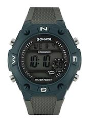 Sonata Men Ocean Series Grey Digital Watch 77033PP01