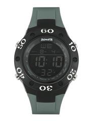 Sonata Men Ocean Series Grey Digital Watch 77035PP02