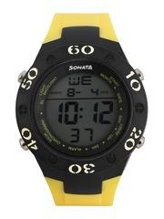 Sonata Ocean Series Men Yellow Digital Watch 77035PP03