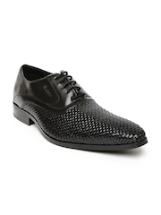 Ruosh Wedding Men Black Leather Oxford Formal Shoes