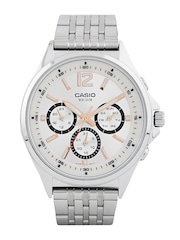 Casio Enticer Men White Dial Watch A958
