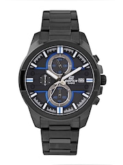 Casio Edifice Men Charcoal Grey Chronograph Dial Watch EX223