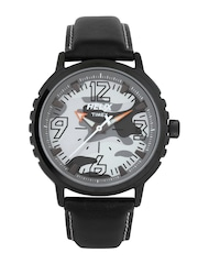 Timex Helix Men Grey Camouflage Print Dial Watch TW025HG05