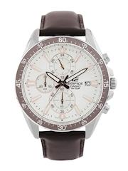 Casio Edifice Men White Chronograph Dial Watch EX235
