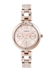 Casio Enticer Women Rose Gold-Toned Dial Watch A975