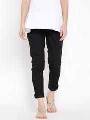 W Women Black Mid-Rise Clean Look Maternity Jeans