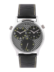maxima Attivo Men Grey & Black Dual Dial Watch 30602LMGI