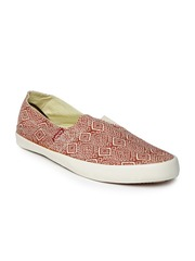 Levis Men Rust Brown Printed Casual Shoes